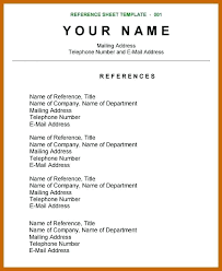 Reference List Format Listing References On A Resume Job Page ...