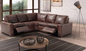 picture of marinelli maryland power reclining top grain italian leather sectional sofa