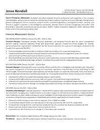 Financial System Manager Sample Resume Finance Resume Objective