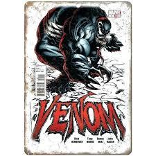 marvel wooden wall art wood comic venom book comics x 7