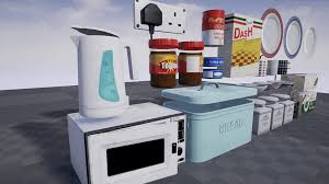 Retro Kitchen Accessories Retro Kitchen Accessories Pack By Blueprint Games In Props Ue4
