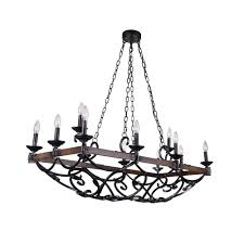 cwi lighting morden 12 light metal chandelier