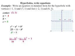 11 hyperbolas write equations