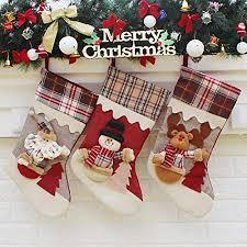 christmas stocking set. Brilliant Christmas YAMUDA 3 Pcs Set Big Size Classic Christmas Stockings Stocking  XMAS Gift Set B Intended I