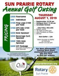 Golf Outing Rotary Club Of Sun Prairie