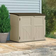 horizontal plastic storage garden shed