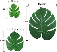 ElaDeco 90 Pcs Artificial Tropical Palm Leaves Luau ... - Amazon.com
