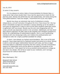 6 Sample Letters Of Recommendation For College Corpus Beat