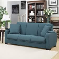 handy living storage arm convert a couch blue linen futon sleeper within sofa design 13