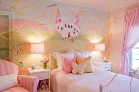 girls bedroom ideas with castle wall mural
