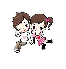 Cute Couple Png Cartoon Animation Love Drawing Couple Together Cartoon