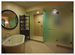what other ways can i use frosted glass in the bathroom