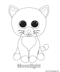 Small Picture Print moonlight beanie boo coloring pages embroidery patterns