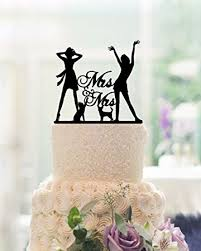 Amazon Lesbian Wedding Cake Toppers Mrs and Mrs 2 Brides