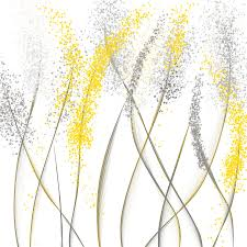 yellow painting neutral sunshine yellow and gray modern art by lourry legarde