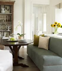 stylish and comfy dining room with banquette bench contemporary dining room design with small dark