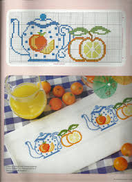 teapot and fruit design would look lovely on a towel in the