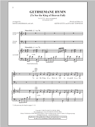 gethsemane sheet music gethsemane hymn sheet music direct