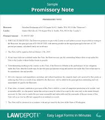 Promissory Note Sample Template Promissory Note Form Free Promissory Note US LawDepot 2