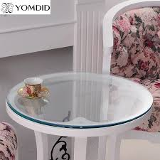 transparency pvc round tablecloth soft glass table cloth waterproof oilproof home kitchen dining room placemat pad dia 60 110cm dining room table cloths