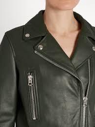 acne studios mock leather biker jacket womens bottle green acne studios pink sweater