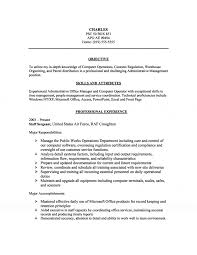 resume attributes management computer operations resume