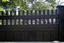 black vinyl privacy fence. Black Vinyl Illusions V3700 Pvc Fence Privacy With Picket Top I