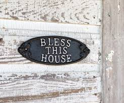 Bless this house with love and laughter wall art quote sticker room decal q, included in the box is a barbie doll that's approx. Cast Iron Plaque Bless This House Wall Decor Rustic Farm Home