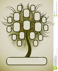Vector Family Tree Design With Frames Stock Vector Illustration Of