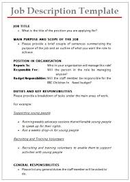 Samples Of Job Descriptions Job Description Templates 10 Printable Pdf Word Formats