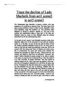 analysis of macbeth s soliloquy act scene university trace the decline of lady macbeth from act 1 scene 5 to act 5