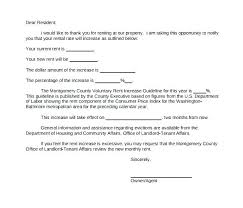 Notice Of Rent Increase Form Rent Increase Template Rent Increase Template Commercial