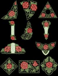 Exotic Rose Cutwork Machine Embroidery Design CD X For Brother - Home machine embroidery designs