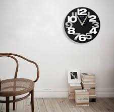 3d round decorative wall clock with modern design