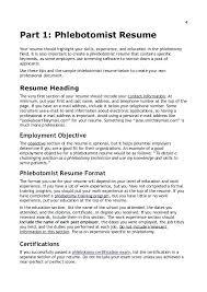 phlebotomy description for resume 4 1 resume phlebotomy resume examples