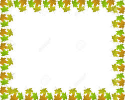 Stationery Border Of Coloured Sycamore Leaves On A White Backgroung