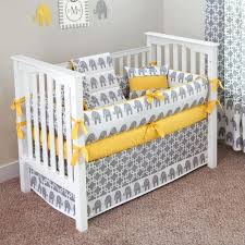 baby bedding elephant project sewn neutral gender grey and white crib gray