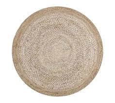 border round jute rug sand