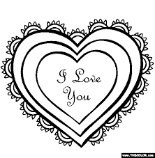 Small Picture Valentines Day Online Coloring Pages Page 1