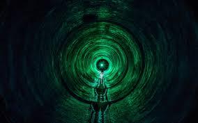 Wallpaper 4k tunnel, light, green, dark ...