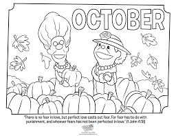 Small Picture Coloring October Coloring Pages