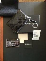 chanel keychain wallet. chanel pouch with key ring in black patent keychain wallet