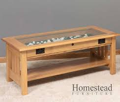glass top wooden coffee table mission coffees tables with glass tops hardwood living area furniture 4