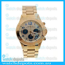 marc by marc jacobs mbm3158 rock metal gold ion plated chronograph watchdepots com media catalog product cache 1 image 9df78eab33525d08d6e5fb8d27136e95 t n tnu jpg marc by marc jacobs mbm3158 rock metal gold