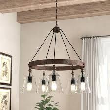 5 light wagon wheel chandelier parts