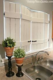 diy kitchen window shutters kitchen window decor