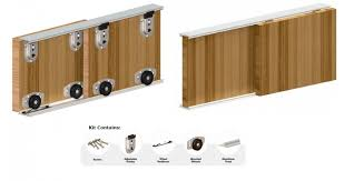 1500mm ares sliding door system wardrobe track kit for 2 doors