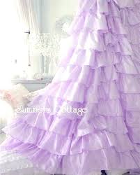 purple ruffle curtain purple ruffle curtains ruffled shower curtain planning to make a for idea 7 purple ruffle curtain