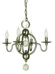 4 light antique brass quatrefoil mini chandelier