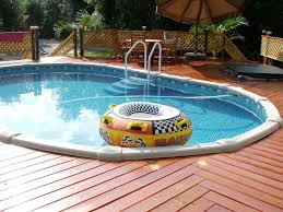 above ground swimming pools with decks photo